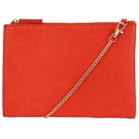John Lewis Helena Contrast Pouch Clutch Bag Coral