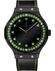 Hublot 565Cx1210vr1222 Classic Fusion Tsavorites And Leather Watch