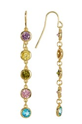 Nordstrom Rack Cz 6 Bezel Drop Earrings Metallic
