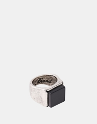 Icon Brand Square Signet Ring Silver