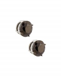 Emily And Ashley Round Crystal Stud Earrings Dark Gray