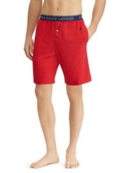 Ralph Lauren Jersey Pajama Shorts Red
