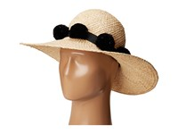 Kate Spade Sun Hat W Poms Black Traditional Hats