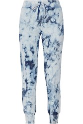 Current Elliott The Slim Vintage Tie Dyed Cotton Terry Track Pants Indigo