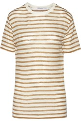 Alexander Wang Striped Jersey T Shirt Brown