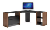 Bdi Semblance 5463 Cm 3 Section Low Office System With Corner Desk Brown