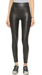 Spanx Cropped Faux Leather Leggings Very Black