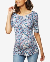 Motherhood Maternity Ruched T Shirt Floral