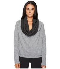 Lucy Dream Maker Pullover Silver Filigree Heather Women's Long Sleeve Pullover Gray