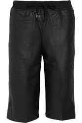 Alexander Wang Coated French Cotton Terry Shorts Black