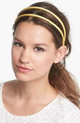 L. Erickson Double Skinny Headband Yellow Plantain