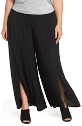 Tart Plus Size Women's Nima Front Slit Pants Black