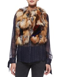 Zadig And Voltaire Fee Deluxe Patchwork Fur Vest Multicolor