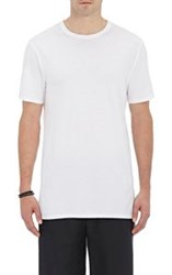 Barneys New York Men's Jersey T Shirt White