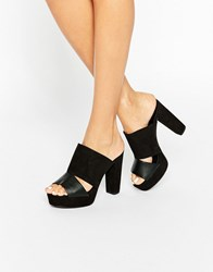 New Look Platform Mule Black