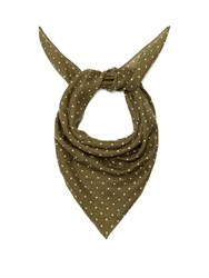 Begg And Co. Wispy Hanover Print Cashmere Scarf Green Multi
