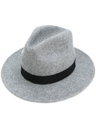 Dsquared2 Fedora Hat Women Wool Felt M Grey