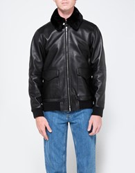 Editions M.R. Shearling Collar Jacket Black
