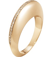 Georg Jensen Dune 18Ct Rose Gold And Cinnamon Diamonds Ring