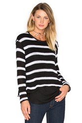 Generation Love Molly Stripes Sweatshirt Black And White