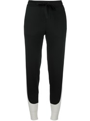 Dkny Contrast Piped Track Pants Black