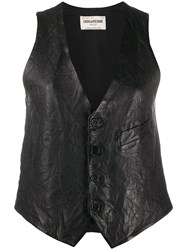 Zadig And Voltaire Emilie Creased Waistcoat 60