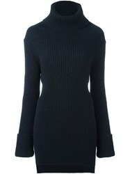 Ann Demeulemeester Ribbed Roll Neck Jumper Black