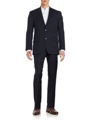 Michael Kors Two Button Wool Suit Navy