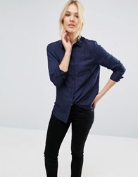 Neon Rose Double Pocket Shirt Navy