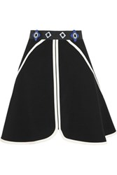 Peter Pilotto Dice Embellished Stretch Crepe Mini Skirt Black