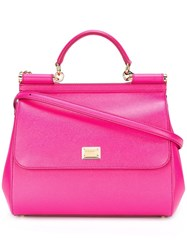 Dolce And Gabbana Large Sicily Tote Pink Purple