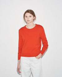 Organic By John Patrick Crop Pullover Orange