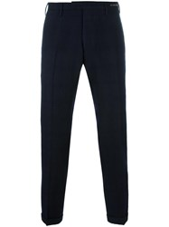 Pt01 Cropped Tailored Trousers Blue