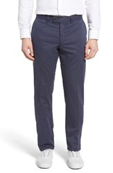 Brax Men's Big And Tall Flat Front Stretch Trousers Perma Blue