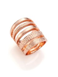 Pamela Love Single Cage Rose Goldtone Ring