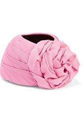 Gucci Knotted Silk And Wool Blend Turban Pink