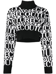 Versace Jeans Couture Cropped Sweater Black