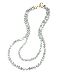Carolee Double Strand Necklace 36 Gray Gold