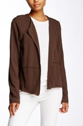Heather By Bordeaux Seam Detail Long Sleeve Cardigan Brown