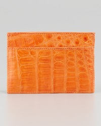 Walter Steiger Crocodile Card Holder Orange