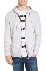 Vestige Men's Organic Cotton Slub Terry Zip Hoodie White