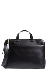 Lodis 'Medium Jamie' Leather Briefcase Black