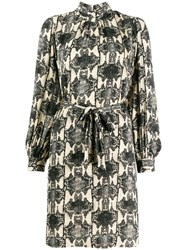 Essentiel Antwerp Snake Print Tesla Dress Neutrals