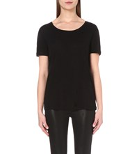 The Kooples Jersey T Shirt Black