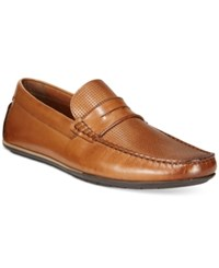Alfani Men's Will Perforated Penny Drivers Only At Macy's Men's Shoes Tan