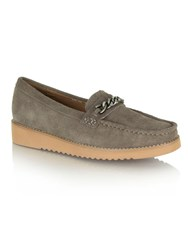 Daniel Rawcliffe Chunky Chain Loafers Grey