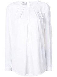 Dondup Pleated Blouse White
