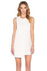 Fifteen Twenty Asymmetrical Shift Dress Cream