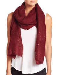 Tilo Sparkle Sequin Mohair And Wool Scarf Wine Grey Black