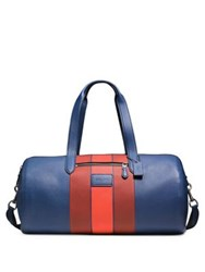 Coach Varsity Striped Leather Duffle Bag Blue
